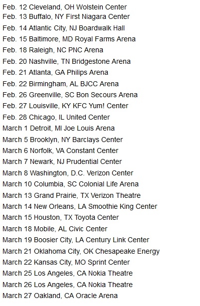 charlie tour dates