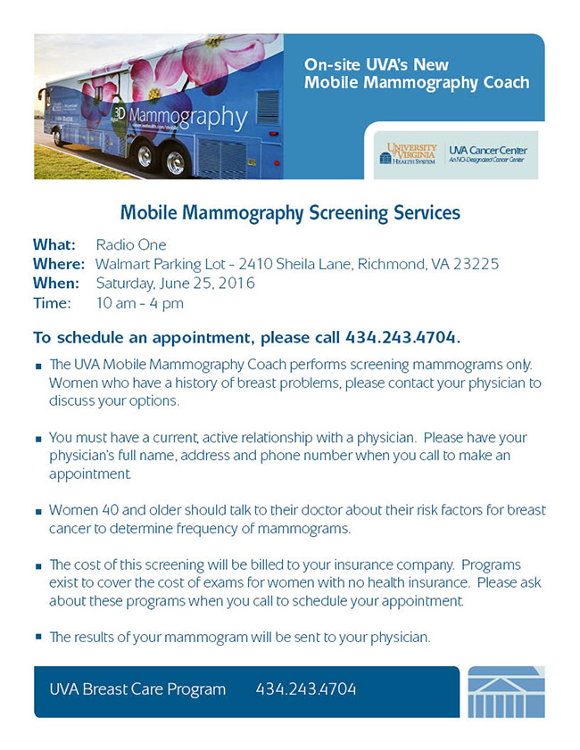 Mobile Mammography Screening Services