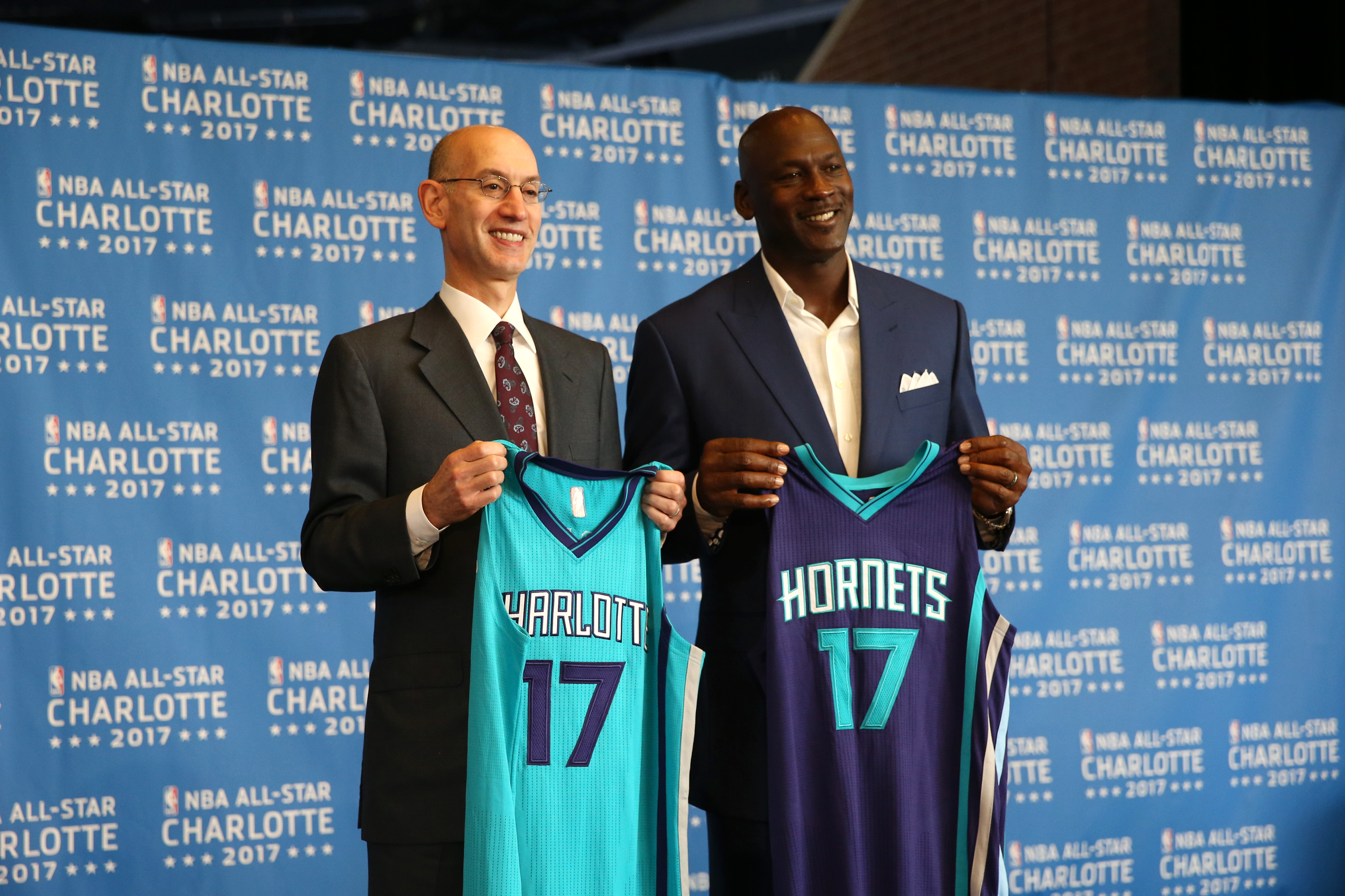 All-Star 2017 annoucement with the Charlotte Hornets