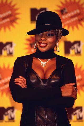Singer Mary J. Blige at the MTV Europe Music Awards
