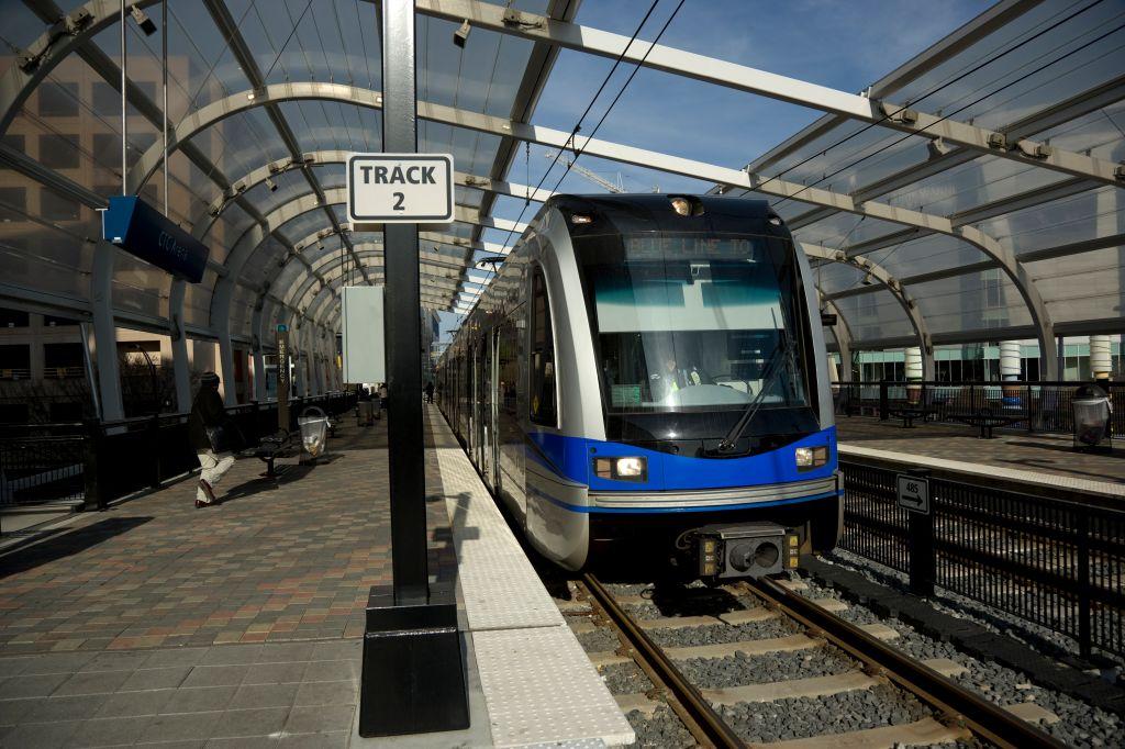 Transportation - City Metro Train. Full Frame.