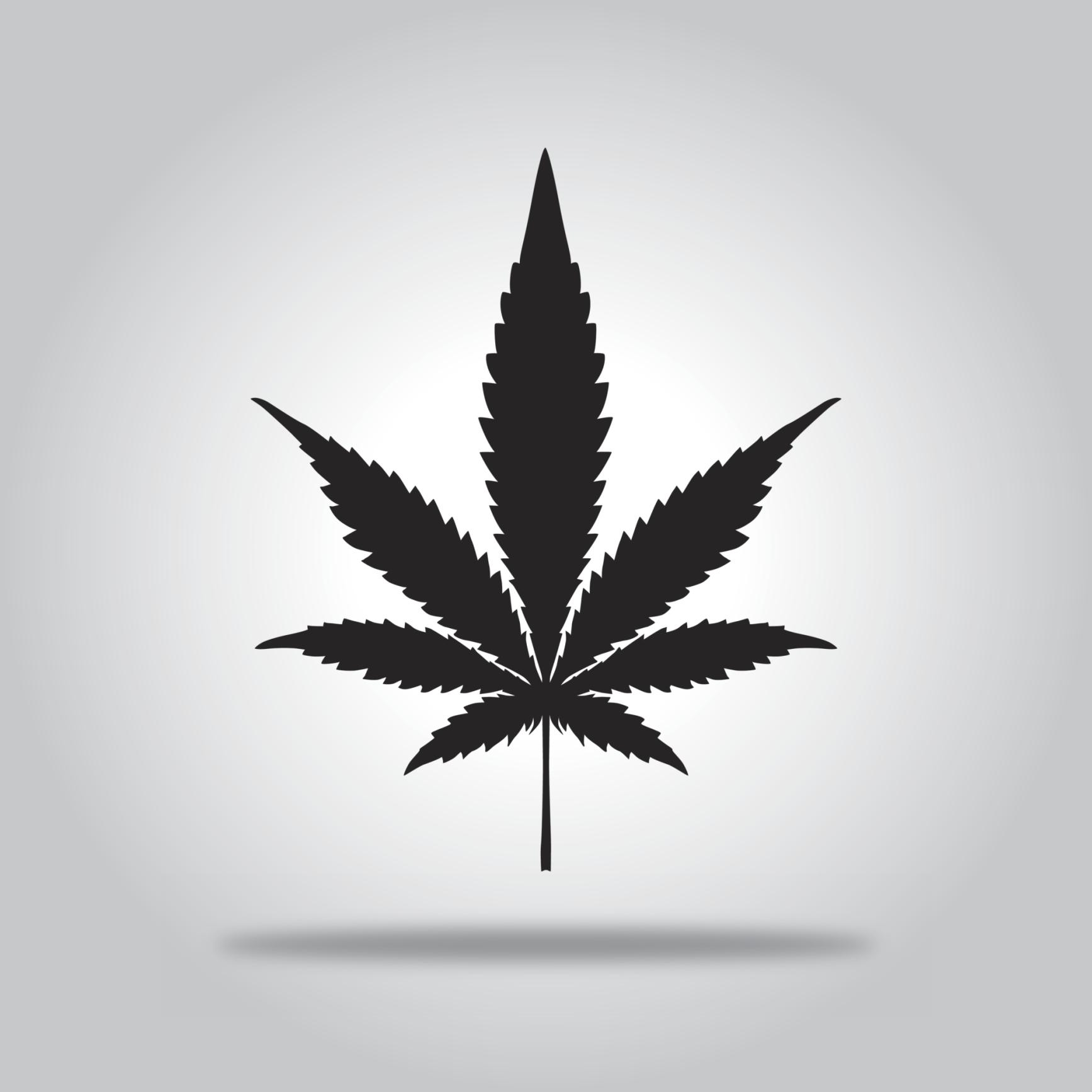 Black Marijuana Leaf icon