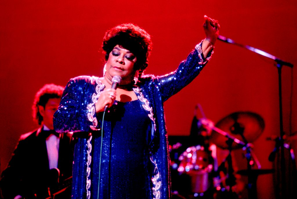 Ruth Brown Performs On Stage