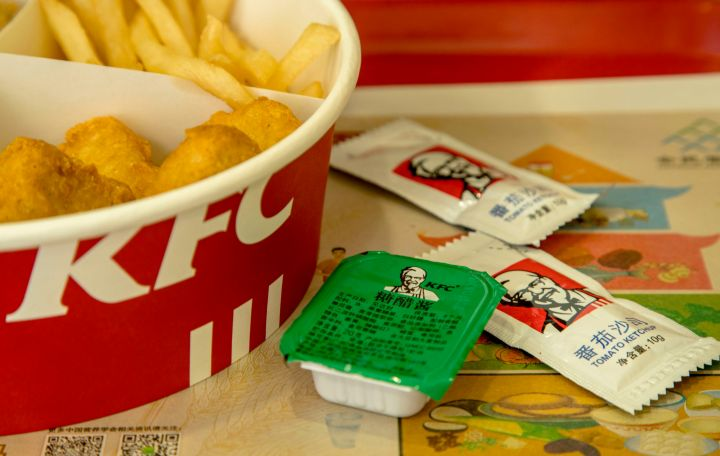 List the countries with KFC franchises.