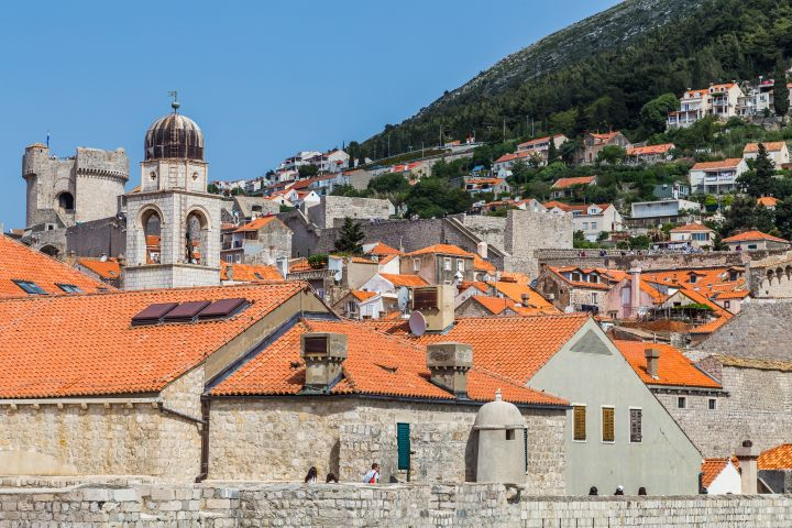 Rising buildings in the old town of Dubrovnik