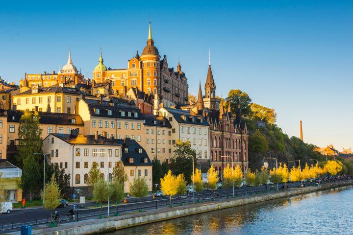 Sweden, Stockholm, Sodermalm, Mariaberget at dawn