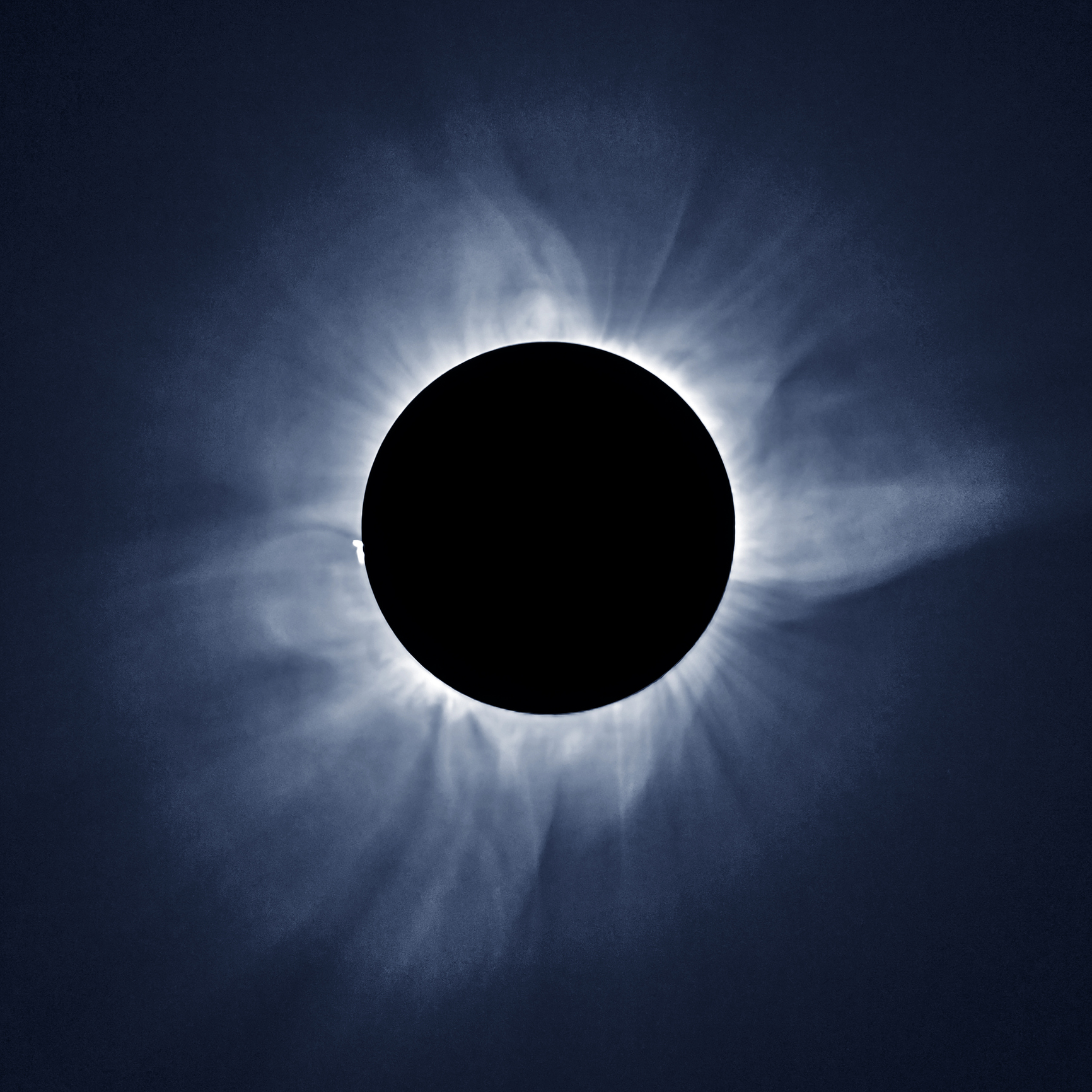 Total solar eclipse and sun Corona, on March 9 2016 in Indonesia