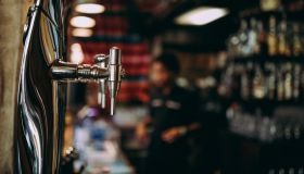 Beer tap in pub