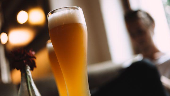 Tilt Shot Of Beer Glass At Restaurant