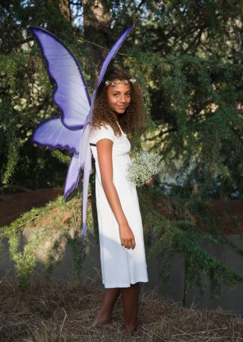 Smiling girl in fairy costume