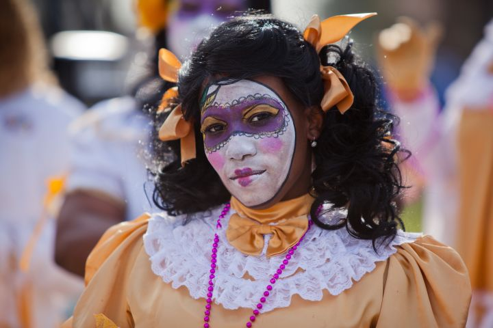 Zulu Parade on Fat Tuesday, Mardi Gras Day in New Orleans
