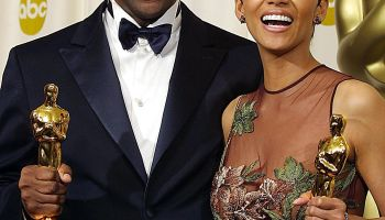 US actor Denzel Washington and actress Halle Berry
