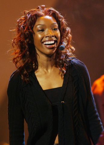 Brandy during the MOBO Awards