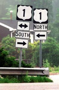 Contrasting Road Signs