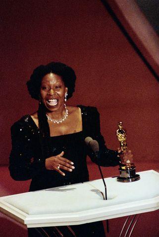 Whoopi Goldberg Holding Oscar