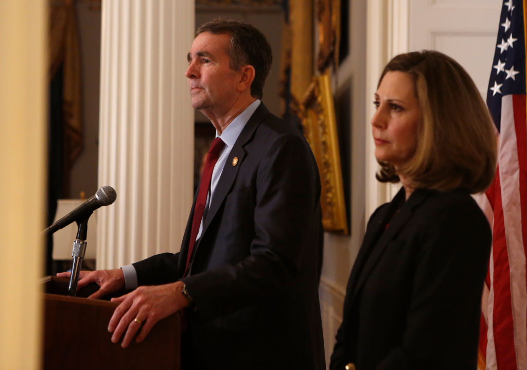 Governor Ralph Northam addresses the media the day after a photo of a person in Blackface and another dressed in a KKK uniform were discovered on his page in his medical school yearbook.