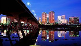 Cityscape of Richmond at night