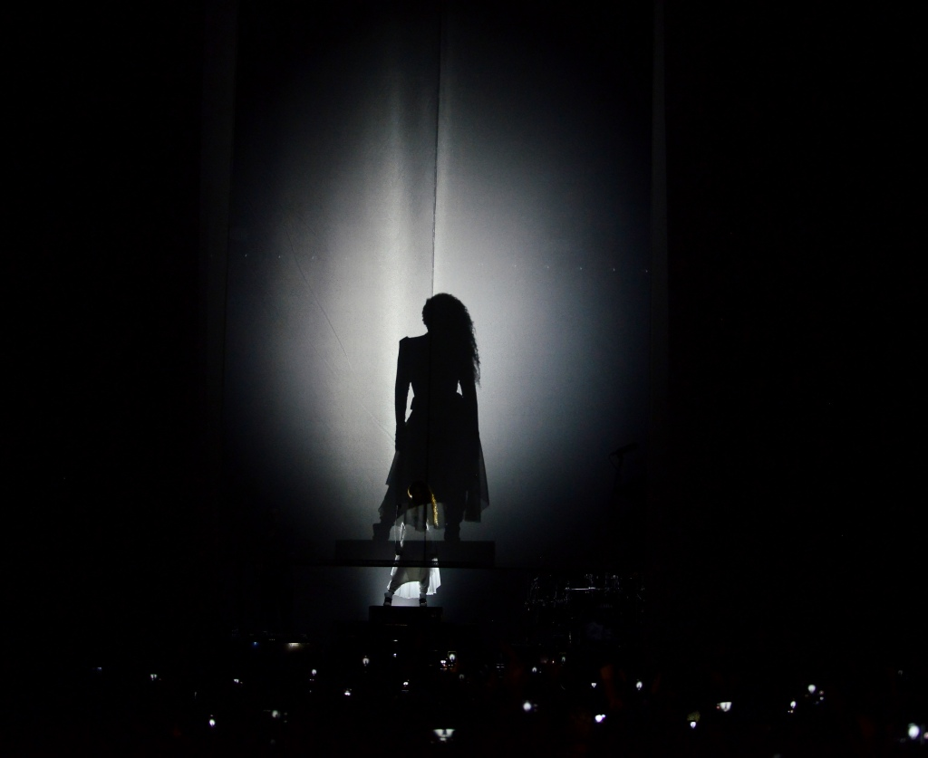 Janet Jackson performs live at the American Airlines Arena