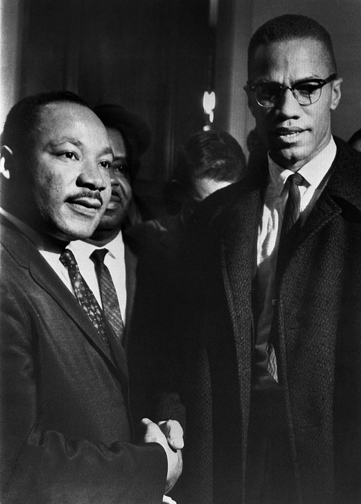 Malcolm X Meets Dr. Martin Luther King