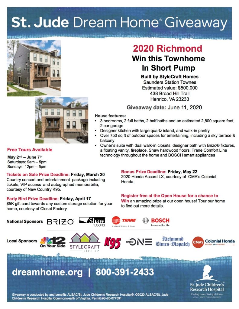 St. Jude Dream Home Giveaway!