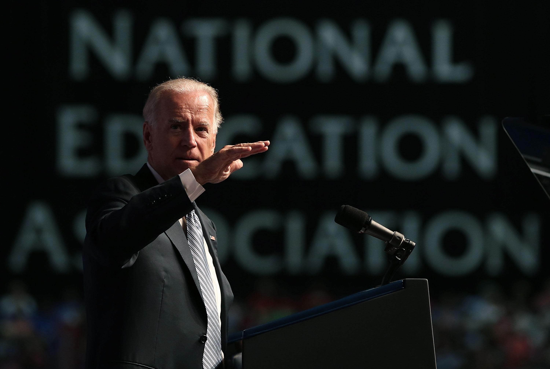 VP Biden And Jill Biden Address National Education Association Annual Mtg
