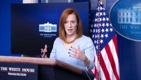 Press Secretary Jen Psaki Holds a News Briefing